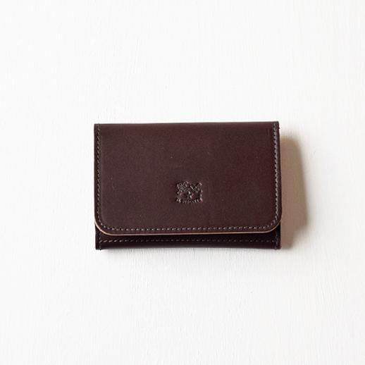IL BISONTE(イルビゾンテ)カードケース 54152309493 L-64 ダークブラウン