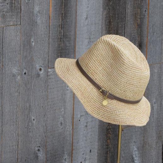 IL BISONTE(イルビゾンテ) 麦わら帽子 54172304283 L-18 ミドルグレー