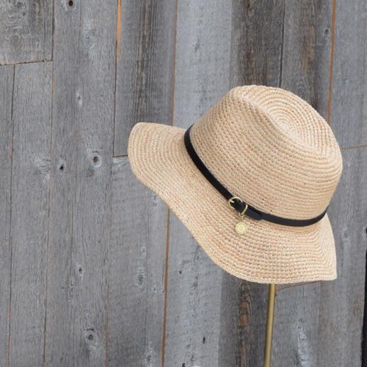 IL BISONTE(イルビゾンテ) 麦わら帽子 54172304283 L-66 オレンジ
