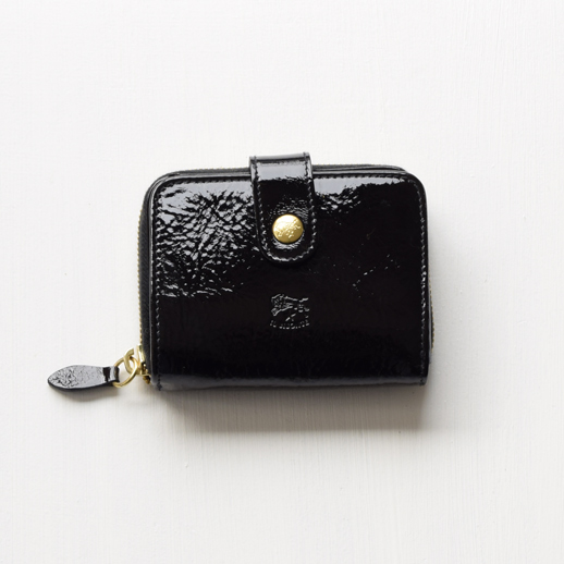 IL BISONTE(イルビゾンテ) 折財布(エナメル) 54182305840 L-63 ブラック