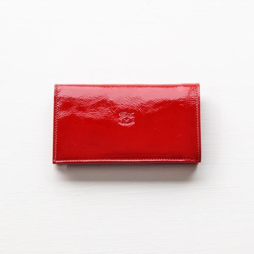 IL BISONTE(イルビゾンテ) 折財布(エナメル) 54182306040 L-61 レッド
