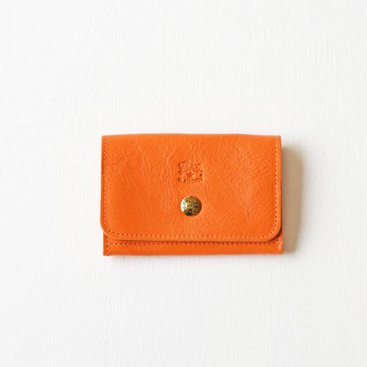 IL BISONTE(イルビゾンテ)カードケース 54192304193 L-66 オレンジ