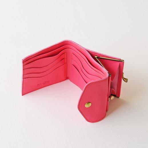 IL BISONTE(イルビゾンテ)折財布 54192305240 L-56 フューシャ