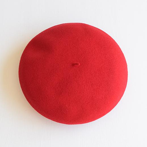 IL BISONTE(イルビゾンテ) ベレー帽 54192309283 76 レッド