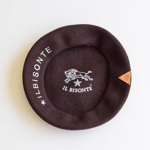 IL BISONTE(イルビゾンテ) ベレー帽 54192309283  ブラウン