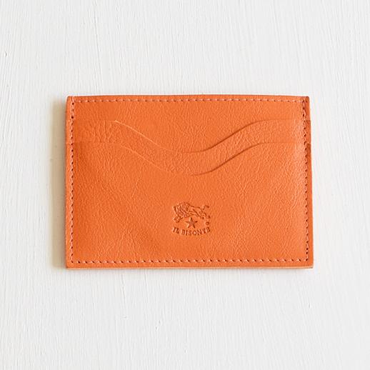 IL BISONTE(イルビゾンテ)カードケース 54202304590L-66 オレンジ