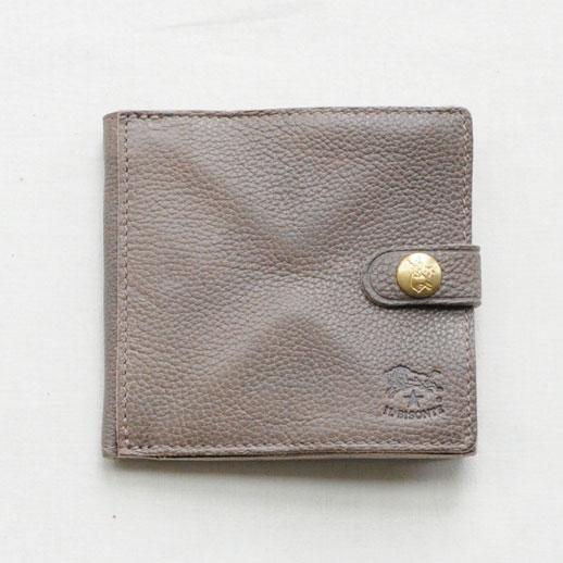 IL BISONTE(イルビゾンテ) 折財布 412228 L-18 ミドルグレー
