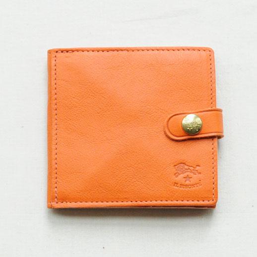 IL BISONTE(イルビゾンテ) 折財布 412228 L-66 オレンジ